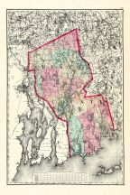 Bristol County, Massachusetts State Atlas 1871