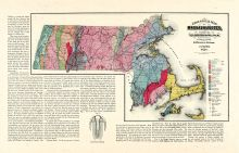 Geological Map, Massachusetts State Atlas 1871