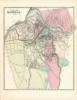 Lowell City, Massachusetts State Atlas 1871