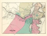 Salem City, Massachusetts State Atlas 1871