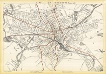 Worcester City, Massachusetts State Atlas 1891