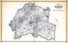 Newton City Outline Map, Middlesex County 1875