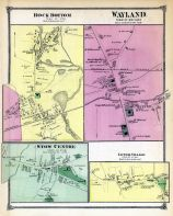 Rock Bottom Town, Stow Centertown, Wayland Town, Lower Village Town, Middlesex County 1875