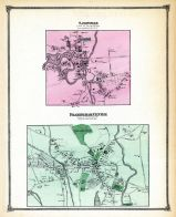 Saxonville Town, Framingham Town Center, Middlesex County 1875