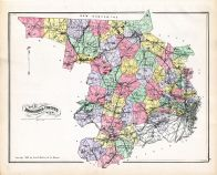 Middlesex County Map, Middlesex County 1889