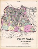City of Newton - Plate M - First Ward, Newton 1874