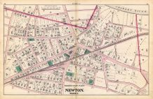Newton - Plate A - Ward 1 North East, Newton 1874