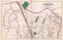 Newton - Plate C - Ward 1 West, Newton 1874