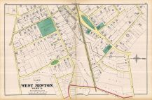 West Newton - Plate H - Ward 3 West, Newton 1874