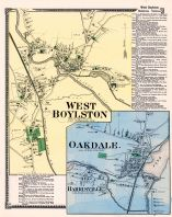Boylston West Town, West Boylston Town, Oakdale, Harrisville, Worcester County 1870