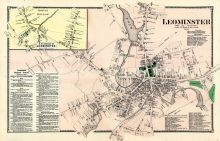 Leominster Town, Leominster North - West, Worcester County 1870