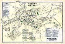 Merno Village, Webster, Chase Village, Worcester County 1870