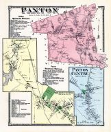 Paxton, Paxton Center, Jeffersonville, Eagleville, Holden Center, Worcester County 1870