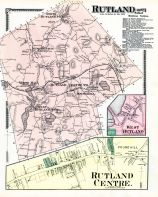 Rutland, Rutland Center, Rutland West, West Rutland, Worcester County 1870