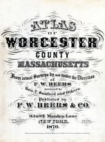 Title Page, Worcester County 1870