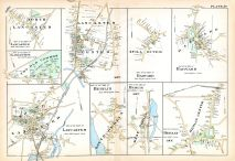 Lancaster North, Old Common, Lancaster South, Berlin South, Berlin West, Berlin Center, Harvard 2, Still River, Lancaster Center, Worcester County 1898