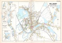 Millbury Town 1, Cominsville Town, Buffumville Town, Oxford North Village, Howarth's Town, Worcester County 1898