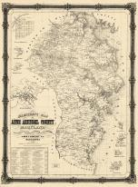 Anne Arundel County 1860 Wall Map 24x32, Anne Arundel County 1860 Wall Map