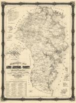 Anne Arundel County 1860 Wall Map 32x44, Anne Arundel County 1860 Wall Map