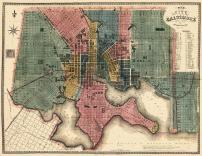 Baltimore 1822 Revised 1836 36x46, Baltimore 1822 Revised 1836