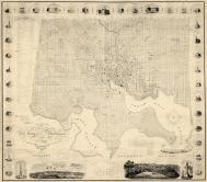 Baltimore 1822 Wall Map 31x36, Baltimore 1822 Wall Map