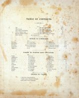 Table of Contents, Baltimore County 1877