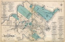 Annapolis City, Atlas: Baltimore and Anne Arundel County 1878 ...