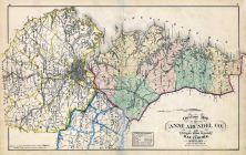 Anne Arundel County Map, Baltimore and Anne Arundel County 1878
