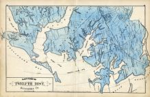 Baltimore County - District 12, East, River Neck, Chesapeake Bay, Bird River, Hawk Cove, Baltimore and Anne Arundel County 1878