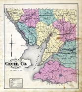Cecil County Map, Cecil County 1877