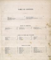 Table of Contents, Cecil County 1877
