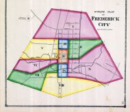 Frederick City Ward Map, Frederick County 1873