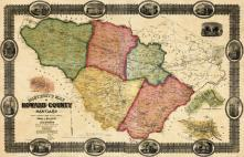 Howard County 1860c Wall Map 36x55, Howard County 1860c Wall Map