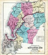 County Map, Kent and Queen Anne Counties 1877