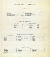 Table of Contents, Kent and Queen Anne Counties 1877