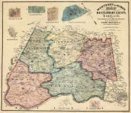 Montgomery County 1865 Wall Map 24x27, Montgomery County 1865 Wall Map