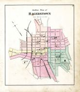 Index Map - Hagerstown, Washington County 1877