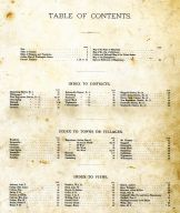 Table of Contents, Washington County 1877
