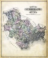 Cumberland County Map, Maine State Atlas 1884