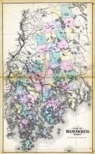 Hancock County Map, Maine State Atlas 1884