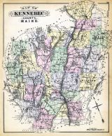 Kennebec County Map, Maine State Atlas 1884