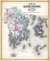 Knox County Map, Maine State Atlas 1884