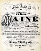 Title Page, Maine State Atlas 1884