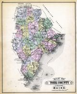 York County Map, Maine State Atlas 1884