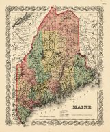 Maine State Map 1855, Maine State Map 1855