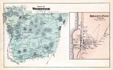 Woodstock Town Bryant S Pond Village Atlas Oxford County 1880