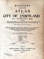 Title Page, Portland and South Portland Cities 1914
