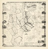York County 1856 Wall Map York County 1856 Wall Map Maine  map online
