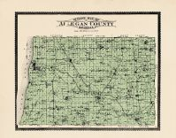 Outline Map, Allegan County 1895