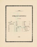 Table of Contents, Allegan County 1895